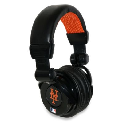 MLB New York Mets iHip® DJ-Style Headphones with Inline Microphone