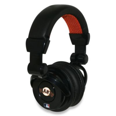MLB San Francisco Giants iHip® DJ-Style Headphones with Inline Microphone