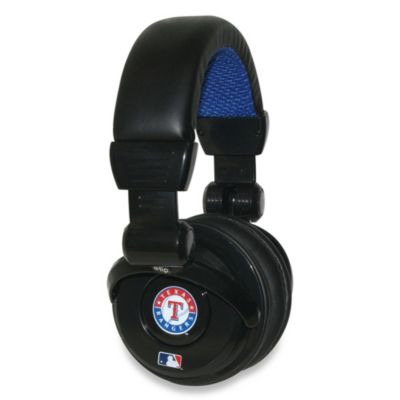 Texas Rangers iHip® DJ-Style Headphones with Inline Microphone