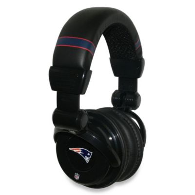 NFL New England Patriots iHip® DJ-Style Headphones with Inline Microphone