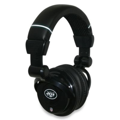 NFL New York Jets iHip® DJ-Style Headphones with Inline Microphone