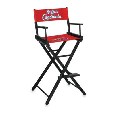 MLB St. Louis Cardinals Bar Height Directors Chair