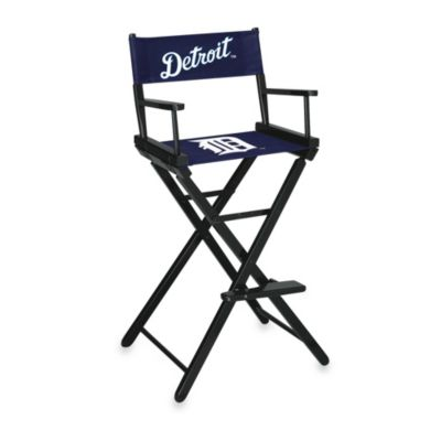 MLB Detroit Tigers Bar Height Directors Chair