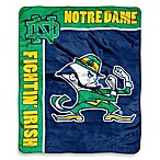 University of Notre Dame Raschel Throw
