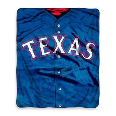 Texas Rangers Raschel Throw