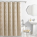 Vue® Signature Iron Gates Jacquard Shower Curtain in Ivory/Tan