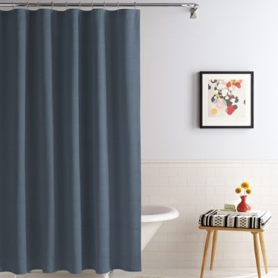Royal Heritage Home® Solid 70-Inch x 96-Inch Shower Curtain in Ink