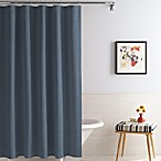 Royal Heritage Home® Solid Matelasse 70-Inch x 72-Inch Shower Curtain in Ink