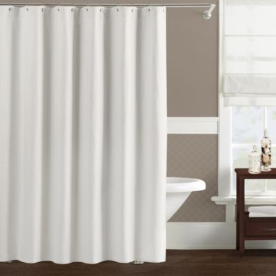 Lamont Home Diamante 72-Inch x 72-Inch Shower Curtain in White