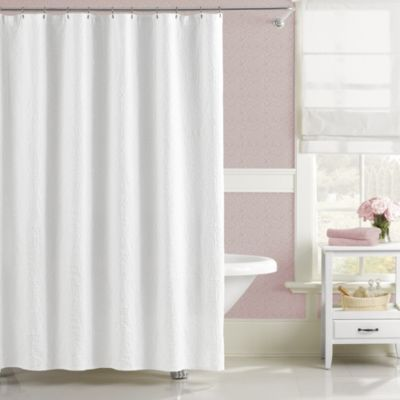 Lamont Home Majestic 72-Inch x 72-Inch Shower Curtain in White