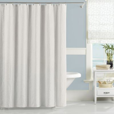 Lamont Home™ Nepal 54-Inch x 78-Inch Stall Shower Curtain in White