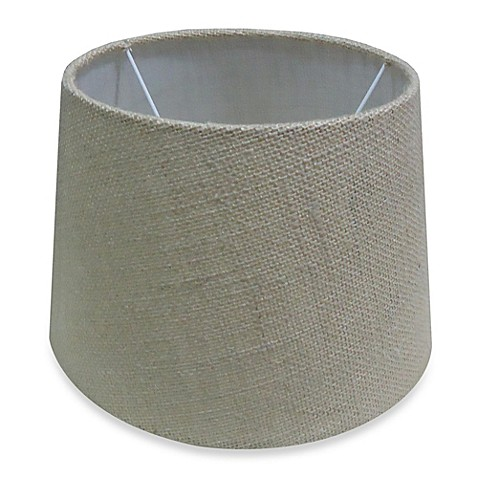 mix match small 10 inch hardback burlap lamp shade in natural bed. Black Bedroom Furniture Sets. Home Design Ideas