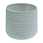 Crinkle Paper Drum Lamp Shade in White