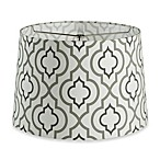 Mix & Match Medium 15-Inch 2-Tone Screen Printed Lamp Shade in Grey