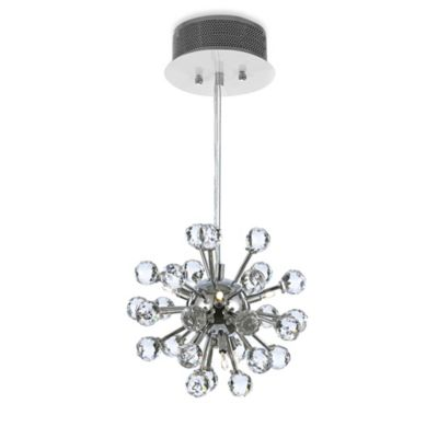 Gallery Modern 6-Light Crystal Chandelier Light Fixture