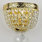 Gallery Crystal Empire Wall Sconce in Gold