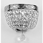 Gallery Crystal Empire Wall Sconce in Silver
