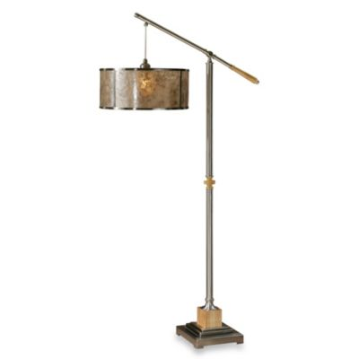 Uttermost Sitka 1-Light Floor Lamp in Silver