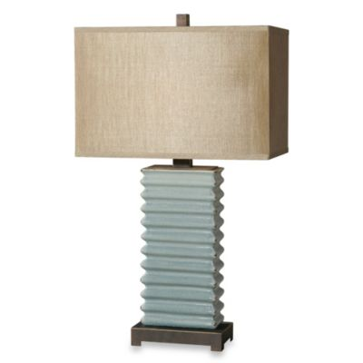 Uttermost Lupara Lamp in Distressed Crackled Blue