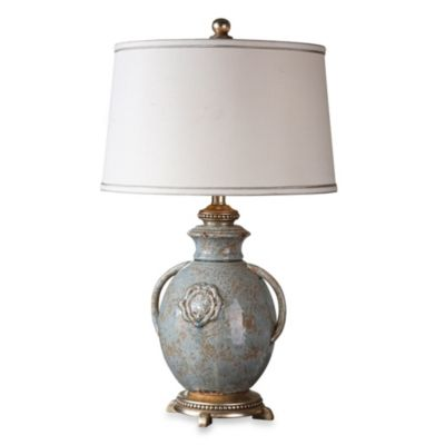 Uttermost Cancello Distressed Lamp in Blue