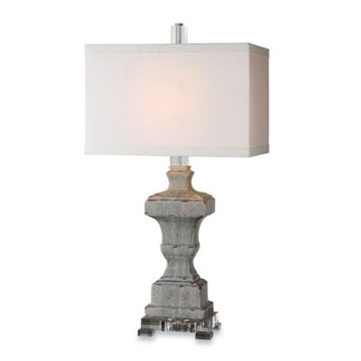 Uttermost San Marcello Textured Ceramic Lamp in Blue Glaze