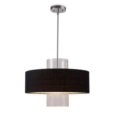 Kenroy Home Annie 1-Light Pendant in Black