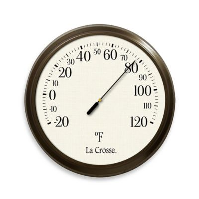 La Crosse Technology Traditional 8 1/2-Inch Indoor/Outdoor Analog Thermometer