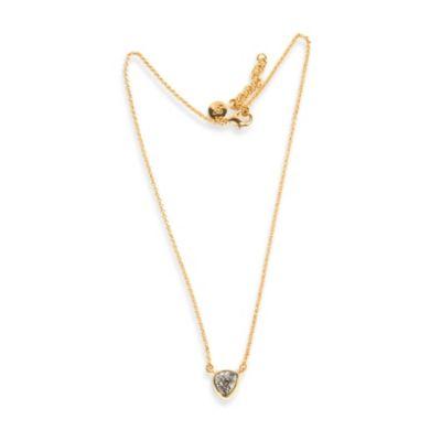 ChristineDarren 22K Gold Plated Freeform Titanium Drusy Pendant Necklace