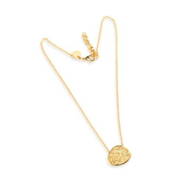 22K Gold Plated Freeform Gold Drusy Necklace