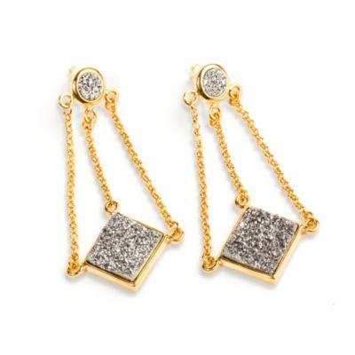 Titanium Gold Drusy Earrings