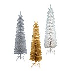 National Tree 6-Foot 6-Inch Decorator Slim Tinsel Tree