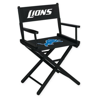 NFL Detroit Lions Table Height Director Chair