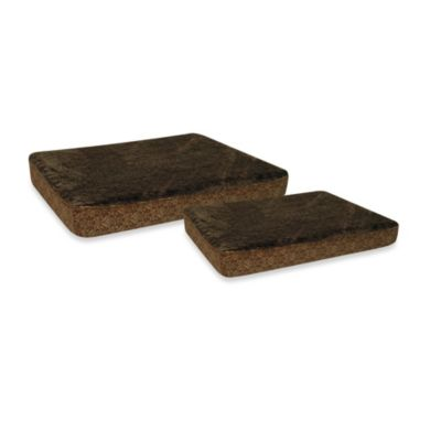 Double Ortho Plush Pet Beds in Brown