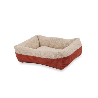 Self-Warming 24-Inch x 20-Inch Rectangular Lounger Pet Bed in Brown/Spice