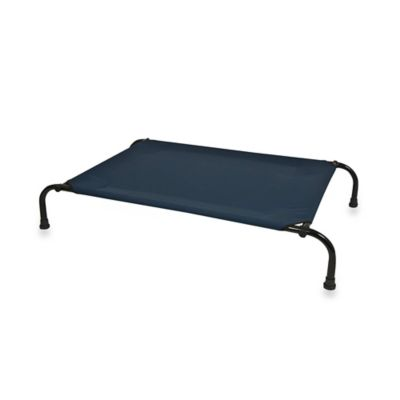 Elevated Blue Pet Bed in Size Medium