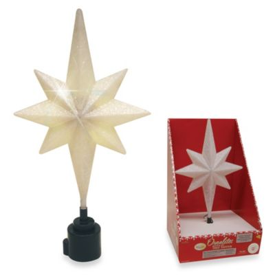 Brite Star Battery Operated White Rotating Bethlehem Star Tree Topper