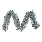 Vickerman 9-Foot 14-Inch Silver Garland with Clear Mini Lights
