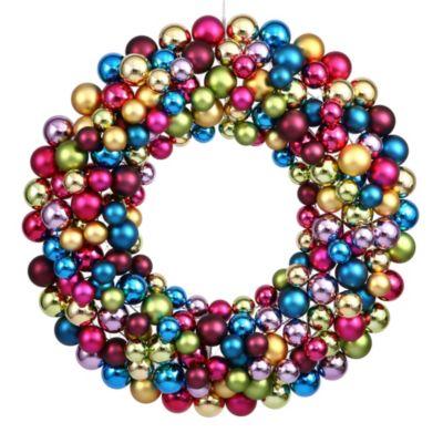 Vickerman 24-Inch Multi-Colored Ball Wreath