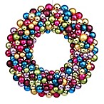 Vickerman 24-Inch Multi-Colored Ball Wreath