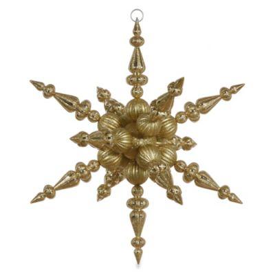 Vickerman 30-Inch Gold Radical Snowflake