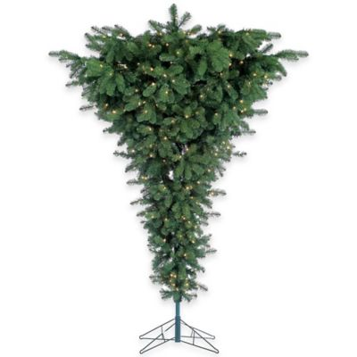 7 1/2-Foot Upside Down Pre-Lit Christmas Tree