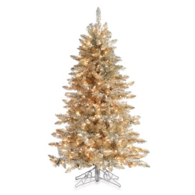 7 ½-Foot Hard Needle Frosted Pre-Lit Artificial Columbus Pine Tree