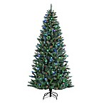 7 1/2-Foot Artificial Pre-Lit Natural Cut Jefferson Pine Tree