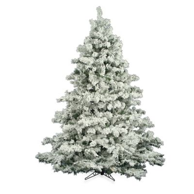 6 1/2-Foot Flocked Alaskan Pine Tree
