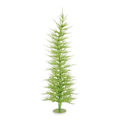 Vickerman 6-Foot x 26-Inch Chartreuse Laser Tree Pre-Lit with 150 Green Mini Lights