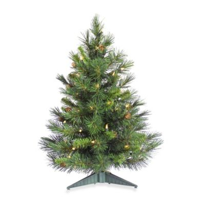 36-Inch Cheyenne Pine Tree with Dura-Lit Clear Lights and Pine Cones