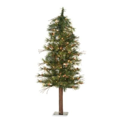 5-Foot Mixed Country Alpine Tree Pre-Lit with 150 Clear Lights