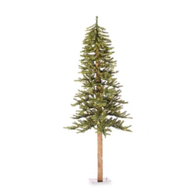 Vickerman 7-Foot Natural Alpine Christmas Tree with Clear Lights