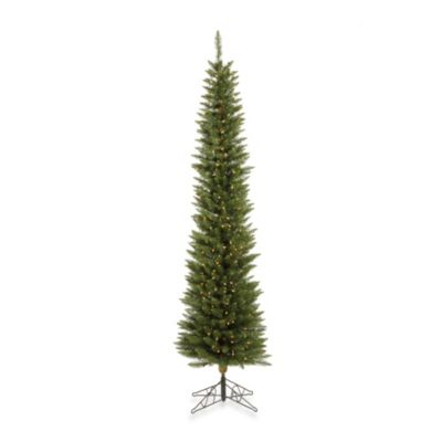 Vickerman 7-Foot 6-Inch Durham Pole Pre-Lit Pine Christmas Tree with Clear Lights