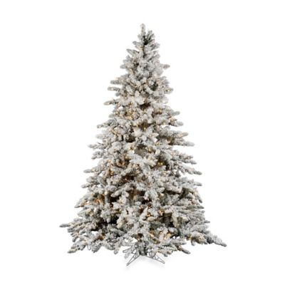Vickerman 7-1/2-Foot Flocked Utica Tree with Dura-Lit Clear Lights